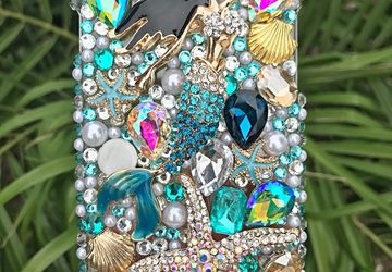 Mermaid Starfish Bling phone case