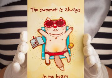 "Postcard ""The Summer is Always"""