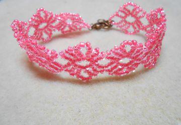 Pink Lace Bracelet