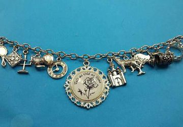 Tale as Old as Time charm bracelet