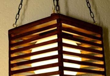 Handmade wooden lamp
