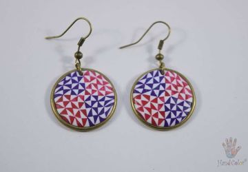Portuguese Ceramic Tiles Round Earrings - BCDA-2-60