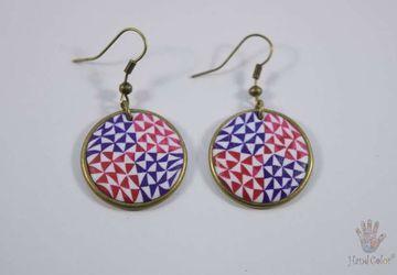 Portuguese Ceramic Tiles Round Earrings - BCDA-2-60