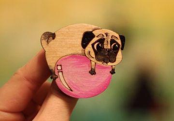 """Pugs"" wooden pins"
