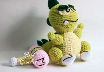 Muka Muka Paradise Dinosaur Inspired Amigurumi Plushie Stuffed Toy Doll handmade gift by nhimconshop Crochet & Knit plush