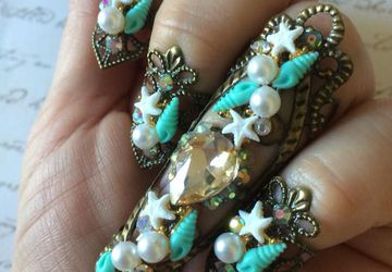 Mermaid queen nail ring set
