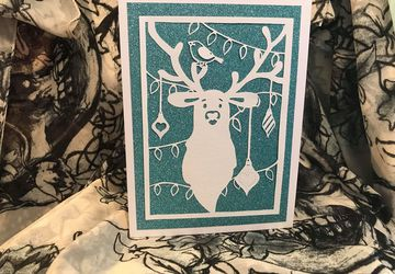 Oh Deer papercutting template