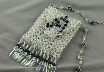 "White ""A"" amulet bag"