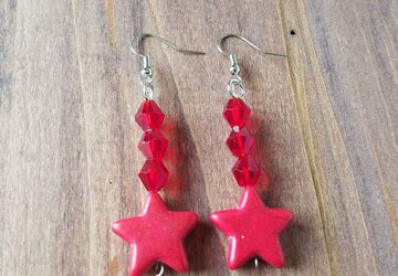 Sailor Mars Star Earrings/Sailor Mars Costume/Raye Hino/Rei Cosplay/Red Star Charm Earrings/Geeky Gift/Sailor moon Jewelry/Sailor Senshi