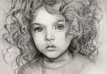 Realistic pencil portrait from a photo