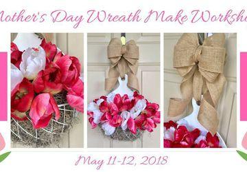 Mother's Day Tulip Basket Wreath Make Workshop