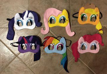 Felt My Little Pony Inspired Masks