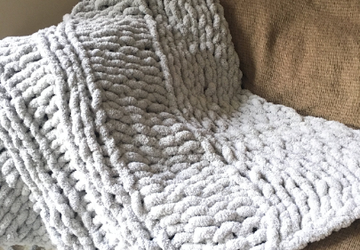 chunky chenile knit throw,large arm knit blanket