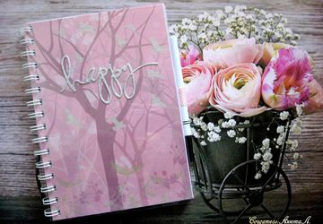 "A notebook ""Happy"""