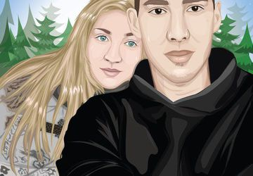 Custom Cartoon Portrait From Photo
