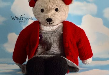 Hand crafted, one of a kind teddy bear - Chickpea.