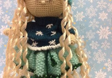 A knitted doll