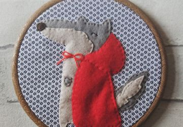 Felt Mr Wolf Textile Wall Art