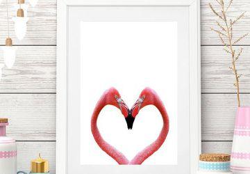 Flamingo printable | Printable art |Heart digital |