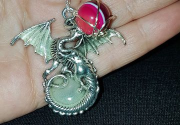 Glow in the dragon crystal pendant