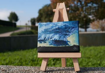 «Storm I» - Mini oil painting