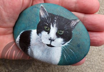 Pebble Pet Portrait commission - cats