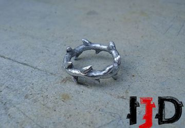 Twig Ring - Branch Ring - Silver Twig Ring - Rose Twig Ring - Thorns Ring - Crown of Thorns Ring - Crown of Thorns