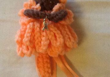Uterin cancer awareness fairy keychain