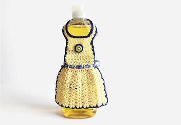 Yellow Dish Soap Bottle Apron
