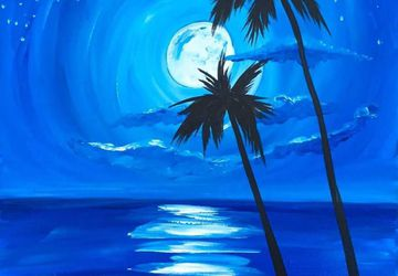 Wine & Canvas: Moonlight Beach