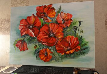 """A painting """"A poppy seed"""""""