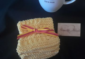 Sunshine Yellow Dishcloths/Facecloths