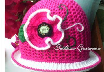 "Hat ""Pink Poppy"""
