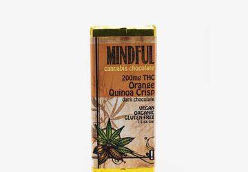Buy Edibles Online at Hush Cannabis Club   Orange Quinoa Chocolate Bar
