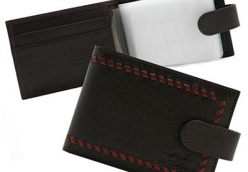 Leather handmade cardholder Cangurione 3312-002 DP/Brown