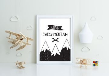 Climb every mountain, Playroom print, nursery wall decor, kids poster, nursery print, kids wall art, playroom poster, digital download.