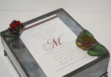 Customized one of a Kind Stained Glass Wedding Box
