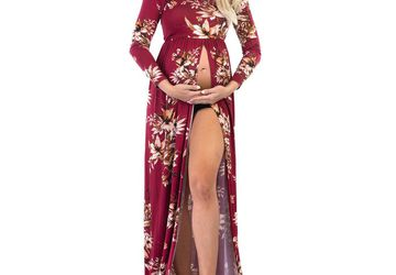 Off-the-Shoulder Maternity Photo Shoot Dress | Gorgeous Maternity Dresses