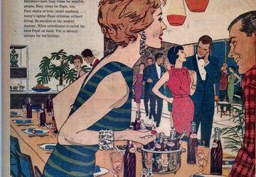1959 Vintage Newspaper Full Page Pepsi Cola Ad