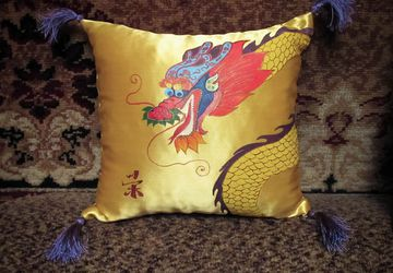 "Decorative pillows ""Happy dragons"""