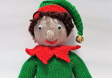 Christmas Elf Knitted Toy - Bernard