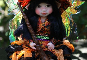 Polymer Clay Witch Fairy