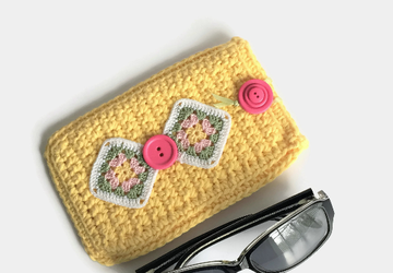 Yellow Soft Sunglasses Case