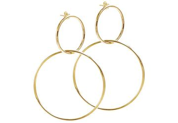 Sterling Silver Hoop Earrings Gold Plated