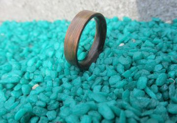 Walnut ring brown ring bentwood ring aniversary ring thin ring mens engagement ring -Free shipping-