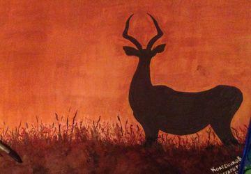 """A painting """"Deer"""""""