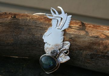 "The ""Jackalope"" Pendant"