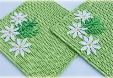 """Meadow camomiles"" set of pot holders"