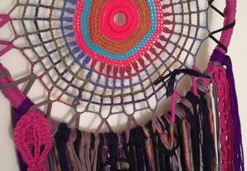 Caça-sonho Mandala Colorido