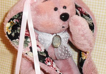 A pink teddy bear